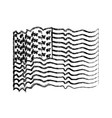 flag united states of america with several wave vector image vector image