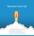flat concept rocket new business vector image vector image