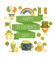 flat poster for StPatricks day vector image vector image