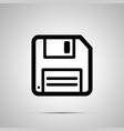 floppy-disk retro save symbol simple black icon vector image