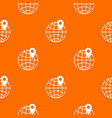 globe with pin pattern seamless vector image vector image