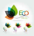 green leaf logo design vector image