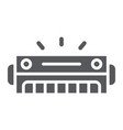 harmonica glyph icon music and sound wind vector image vector image