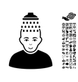 Head Shower Flat Icon With Bonus vector image