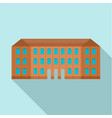 historical vintage old building icon flat style vector image
