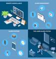 home security 2x2 design concept vector image