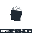 Human brain icon flat vector image vector image