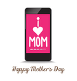 i love mother by phone vector image vector image