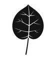 linden leaf icon simple style vector image