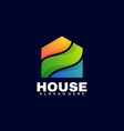 logo house gradient colorful style vector image