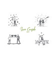 love couple - loving romantic couple walking vector image vector image