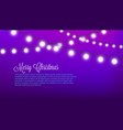 merry christmas - purple festive decorated with vector image