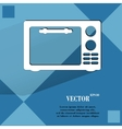 microwave kitchen equipment Flat modern web button vector image