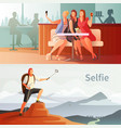 modern people selfie set vector image