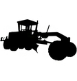 motor road grader silhouette vector image vector image