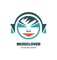 Music lover - logo concept vector image vector image