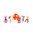 new year party celebration concept group of vector image vector image