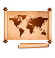old map and papers vector image vector image