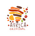 original abstract african logo with doodle vector image vector image