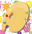 Painting art party invitation vector image