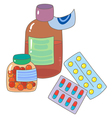 Pharmaceutical drugs vector image vector image