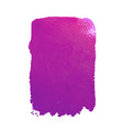 purple watercolor stain vector image vector image