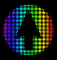 rainbow colored pixel rounded arrow icon vector image vector image