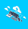 remote storage isometric icon vector image vector image