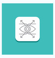 round button for business eye look vision line vector image