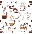 Seamless pattern with coffee cups vector image vector image