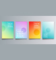 set colorful gradient cover with circles vector image