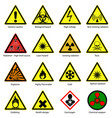 set hazard symbols vector image