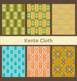 set of african seamless patterns kente cloth vector image