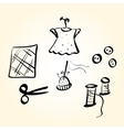 sewing supplies vector image