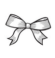sketch bow with ribbon vector image vector image