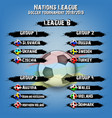 soccer team group set nations league vector image