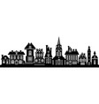 the black silhouette of the city vector image vector image