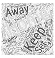 The Internet And Home Surveillance Word Cloud vector image vector image