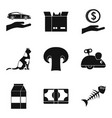 tomcat icons set simple style vector image vector image