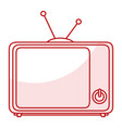 tv retro isolated icon vector image vector image