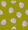vegetable pattern with artichoke vector image vector image