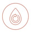 Water drop with circular arrow line icon vector image vector image