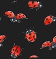watercolor ladybug seamless pattern vector image