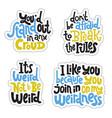 weird and beautiful sticker set design template vector image vector image