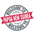 welcome to papua new guinea stamp vector image vector image