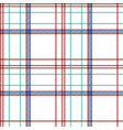 white check plaid fabric texture seamless pattern vector image vector image