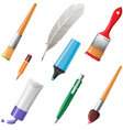 writing tools set vector image vector image