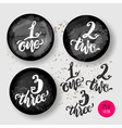 Chalkboard frames with alphabet numbers hand-drawn vector image