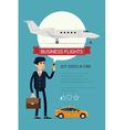 Business Flight Icon vector image