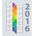 Calendar 2016 year design template vector image